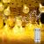 100 LED Lichterkette Strombetrieben,15M Lichterkette Kugel Warmweiß mit Stecker,IP65 Wasserdicht Lichterketten mit Dimmbar Fernbedienung,Ideal für Außen und Innen - 1