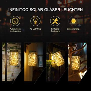 3 Stück Solarlampen für Außen | 40er LED Solar Licht mit Windmühlenmuster für Garten | Solarglas Lichterkette Leuchten Garten Lampions Solar Außen Wetterfest Hängeleuchten Gartendeko für Party - 3