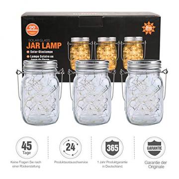 3 Stück Solarlampen für Außen | 40er LED Solar Licht mit Windmühlenmuster für Garten | Solarglas Lichterkette Leuchten Garten Lampions Solar Außen Wetterfest Hängeleuchten Gartendeko für Party - 8
