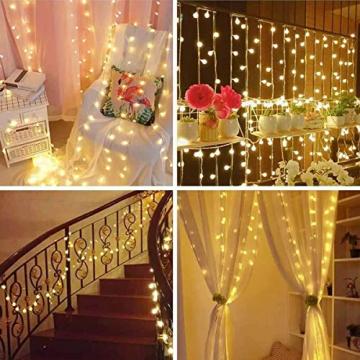 DeepDream 11 Meter 60 LED Kugel Solar Lichterkette Aussen,USB Globe Lichterkette 8 Modus Wasserdicht Innen und Außen für Garten, Hochzeit, Balkon, Haus, Weihnachten Deko, Warmweiß - 5