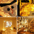 【2 Stück】 Lichterkette Batterie, 12M 120 LED Litogo Lichterkette Kupferdraht Batterie Timer und Fernbedienung Mini LED Leuchtdraht Wasserdichte mit 8 Modi für Innen, Außen Weihnachten Deko Warm weiß - 4