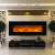 GLOW FIRE Mars Elektrokamin mit Heizung, Wandkamin mit LED | Künstliches Feuer mit zuschaltbarem Heizlüfter: 750/1500 W | Fernbedienung, 126 cm, Schwarz, Holzdekoration - 2