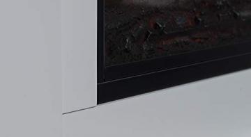GLOW FIRE Poseidon Elektrokamin mit Heizung, Wandkamin und Standkamin mit LED   Künstliches Feuer mit zuschaltbarem Heizlüfter: 750/1500 W   Fernbedienung, Dimmer, Kaminsims, Weiß - 6