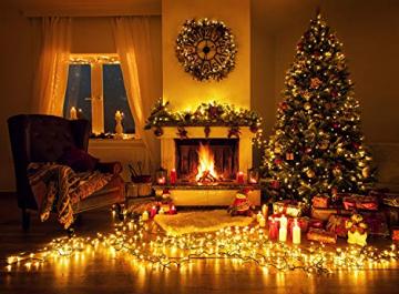 Idena 31123 - LED Lichterkette mit 400 LED in warmweiß, mit 8 Stunden Timer Funktion und Transformator, ca. 47,9 m lang, Innen- und Außenbereich, als Deko für Partys, Weihnachten, Hochzeit - 5