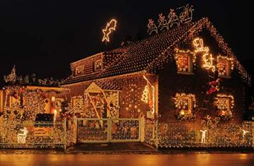 Idena 31123 - LED Lichterkette mit 400 LED in warmweiß, mit 8 Stunden Timer Funktion und Transformator, ca. 47,9 m lang, Innen- und Außenbereich, als Deko für Partys, Weihnachten, Hochzeit - 6