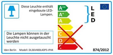 Idena 31123 - LED Lichterkette mit 400 LED in warmweiß, mit 8 Stunden Timer Funktion und Transformator, ca. 47,9 m lang, Innen- und Außenbereich, als Deko für Partys, Weihnachten, Hochzeit - 7