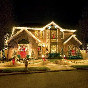 LED Lichtschlauch 200Leds 20Meter Lichterkette mit Fernbedienung Warmweiß 8 Modi IP65 Wasserdicht Weihnachten Deko für Innen Außen Garten Party Hochzeit Weihnachts (LED Lichtschlauch) - 7