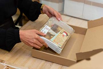 Logbuch-Verlag Massiver Holzengel Figur Holz Engel Weihnachtsdeko GOLDEN glitzernde Flügel Holzdeko Weihnachtsengel Schutzengel Natur Deko - 4