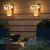 MMTX 2 Stück Mason Jar Licht, Weihnachtsdeko Wand Holzdeko mit Licht & Künstliche Blumen, Wandkerzenhalter LED Lichterkette, Chic Home Garten Decor Geschenke, Balkondeko, Schlafzimmer Deko - 2