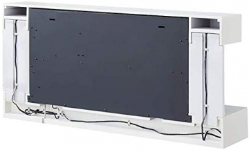 RICHEN Elektrokamin Helia - Elektrischer Wandkamin Mit Heizung, LED-Beleuchtung, 3D-Flammeneffekt & Fernbedienung - Weiß - 6