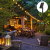 Solar Lichterkette Glühbirnen Aussen, Bomcosy 15M 25 LEDs G40 Außen Beleuchtung, USB wiederaufladbar, 4 Modus Solarlichterkette für Garten, Hochzeit, Balkon, Haus, Weihnachten Deko, Warmweiß 2700K - 3