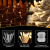 100 LED Lichterkette Außen Batterie, BrizLabs Warmweiß Weihnachtsbeleuchtung Innen 8 Modi Wasserdicht mit Timer für Zimmer Weihnachten Party Hochzeit Beleuchtung Deko, Durchsichtigen Kabeln - 2