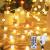 100 LED Lichterkette Außen,13 Meter Strombetrieben Lichterkette Innen Kugel mit Fernbedienung Timer, IP65 Wasserdicht Lichterkette Warmweiße für Party Weihnachten Garten und Innendeko - 1