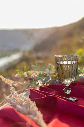100% Mosel Tischläufer Samt, in Bordeaux Rot (28 cm x 5 m), Tischband aus Polyester in matter Samt-Optik, edle Tischdeko für den Herbst & Winter, Dekoration zu besonderen Anlässen - 3
