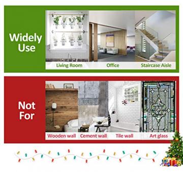 140 Schneeflocken Fensterfolie, Fensterdeko Fensterbild Statisch Haftende PVC Aufkleber Weihnachten Dekoration - Selbstklebend Fenstersticker für Weihnachts-Fenster Dekoration, Schaufenster, Vitrinen - 6
