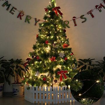 200 LED Lichterkette, ECOWHO 20M 8 Modi IP65 Wasserdicht Kupferdraht Lichterkette Batterie, Lichterkette Außen mit Fernbedienung & Timer, Lichterketten für Zimmer,Weihnachten - 9