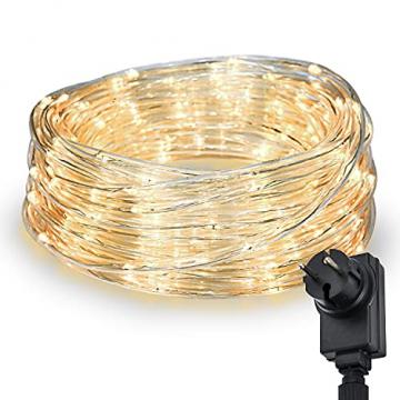 200 LED Schlauch Außen – Lichterschlauch Aussen 10m warmweiß mit Timer | Lichterkette Weihnachtsbeleuchtung wasserdicht | LED Lichtschlauch Außen 10m & Innen | Lichtschläuche Outdoor Leuchtschlauch - 1