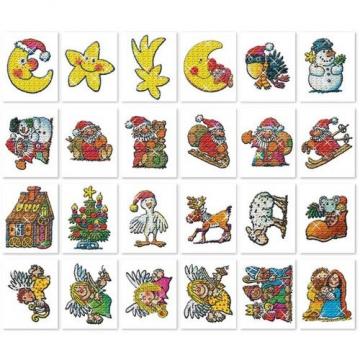 24 Fensterbilder * WEIHNACHTEN * als Advent-Deko von LUTZ MAUDER // Nikolaus Adventskalender Geschenk - 2