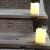 3 Outdoor Stück LED im Freien Wasserdichte Kerzen, Batteriebetriebene Plastikkerze mit Fernbedienung/Timer-Funktion (Warmweißes Licht) - 8cm X 10cm - 3