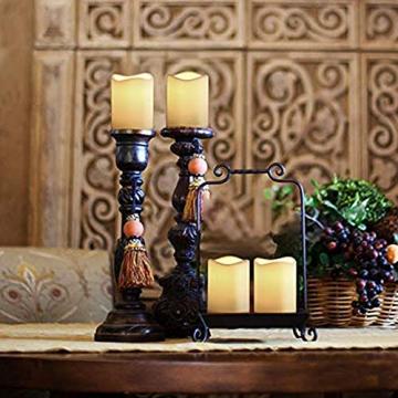 3 Outdoor Stück LED im Freien Wasserdichte Kerzen, Batteriebetriebene Plastikkerze mit Fernbedienung/Timer-Funktion (Warmweißes Licht) - 8cm X 10cm - 6