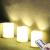 3 Outdoor Stück LED im Freien Wasserdichte Kerzen, Batteriebetriebene Plastikkerze mit Fernbedienung/Timer-Funktion (Warmweißes Licht) - 8cm X 10cm - 1