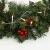 60CM Künstliche Weihnachtskranz Deko mit 50 LED Warm Weiß Christmas Wreath Decoration Künstlicher Kranz Weihnachten Künstliche Kranz Deko für Parties Feste Türen Halloween Weihnachten Deko (50 LED) - 4