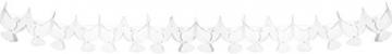 6m Waben-Girlande * Weisse TAUBEN * für Taufe, Konfirmation, Kommunion oder christliches Fest // Trauerfeier Weihnachten Ostern Advent Dekoration Deko Motto Wimpelkette Banner - 2