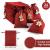 ABSOFINE 24 stück Jutesäckchen mit 24 Adventszahlen Zahlen Holz Deko Holz-Anhänger für Weihnachten Adventskalender Jutebeutel Stoffbeute Geschenksäckchen zum Befüllen(Rot) - 2