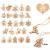ABSOFINE 24 stück Jutesäckchen mit 24 Adventszahlen Zahlen Holz Deko Holz-Anhänger für Weihnachten Adventskalender Jutebeutel Stoffbeute Geschenksäckchen zum Befüllen(Rot) - 3