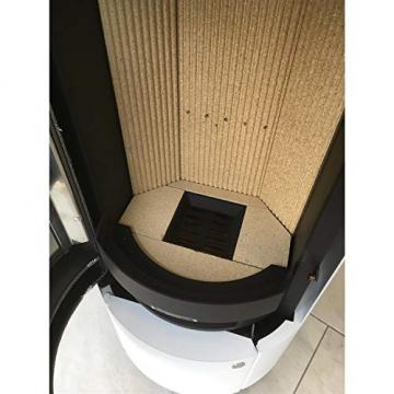ABX Kamin-Ofen Porto II weiß Holzofen rund 6 kw manuelle Luftregulierung 150mm Abgasstutzen Wärmeabgabe verlängerbar durch zusätzliches Speicherstein-Set - 3