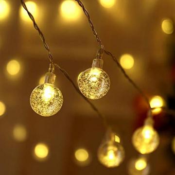 ACBungji 6M/10M LED Lichterkette Batteriebetriebene mit 80 LED Beleuchtung Weihnachtsbeleuchtung Warmweiß für Zimmer Außen/Innen Garten Dekoration Party Hochzeit Schaufenster (6M) - 4