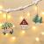 Aitsite Christbaum Schmuck Holz, Hängenden Anhänger für Haus und Feiertag Dekoration, Behang Set 6PCS - 1