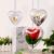 Amosfun Acrylformen Kunststoff Füllbar Teilbar Deko Herz Hänger Bastelkugel mit Aufhängeöse Hochzeit Valentinstag Hängende Dekoration 6cm 10 Stück (Transparent) - 2