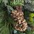 artplants.de Künstlicher Tannenkranz, Zapfen und Efeu, Ø 60cm - Türkranz - Weihnachtsdeko - 3