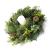 artplants.de Künstlicher Tannenkranz, Zapfen und Efeu, Ø 60cm - Türkranz - Weihnachtsdeko - 4