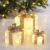 Bambelaa! 3er Led Deko Geschenke Leucht Boxen Timer Weihnachts Dekoration Weihnachtsdeko Beleuchtet Deko Weihnachten (Gold) - 2