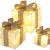 Bambelaa! 3er Led Deko Geschenke Leucht Boxen Timer Weihnachts Dekoration Weihnachtsdeko Beleuchtet Deko Weihnachten (Gold) - 1