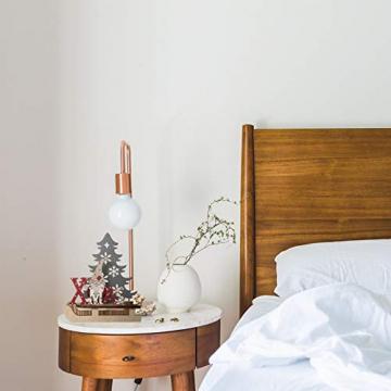 BESPORTBLE Weihnachten Holz Schriftzug Weihnachtsmann Figur Xmas Deko Aufsteller Objekt Mini Weihnachtsbaum Schlitten Weihnachten Tischdekoration Dekofigur Weihnachtsschmuck - 6