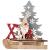 BESPORTBLE Weihnachten Holz Schriftzug Weihnachtsmann Figur Xmas Deko Aufsteller Objekt Mini Weihnachtsbaum Schlitten Weihnachten Tischdekoration Dekofigur Weihnachtsschmuck - 1