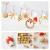 Bluelves Strohsterne Weihnachtsbaumschmuck aus Stroh, 56-teiliges Christbaumschmuck Strohanhänger, Weihnachstbaum Schmuck, Natürlicher Christbaum-Behang, bis zu 6,5 cm große Sterne Herzen Engel - 2
