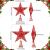 Blulu 2 Stück Metall Glitzer Weihnachtsbaum Topper Stern Baum Spitze Hohldraht Stern Topper für Christbaum Ornament, 2 Größen (Rot) - 4