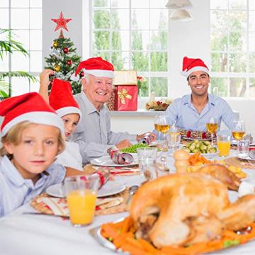Blulu 2 Stück Metall Glitzer Weihnachtsbaum Topper Stern Baum Spitze Hohldraht Stern Topper für Christbaum Ornament, 2 Größen (Rot) - 7