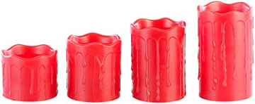 Britesta Adventkranz: Adventskranz mit roten LED-Kerzen, goldfarben geschmückt (Adventskranz mit LED-Beleuchtung) - 9