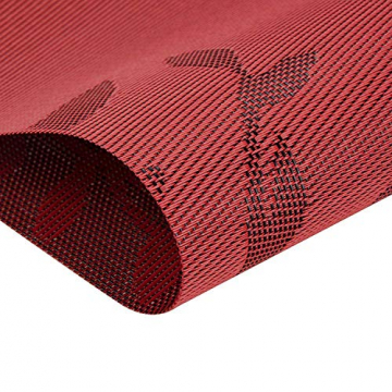 CHAOCHI Platzset Abwischbar Tischset Abwaschbar 6er Set PVC Abgrifffeste Hitzebeständig rutschfest Platzdeckchen für Küche,Zuhause,Restaurant,Speisetisch,45cmx30cm(Rot) - 5