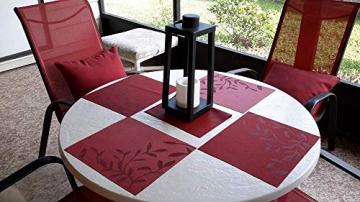 CHAOCHI Platzset Abwischbar Tischset Abwaschbar 6er Set PVC Abgrifffeste Hitzebeständig rutschfest Platzdeckchen für Küche,Zuhause,Restaurant,Speisetisch,45cmx30cm(Rot) - 7