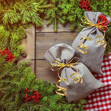 CINMOK 4Rolle Weihnacht Geschenkband 400Yard Gold Silber Ringelband Weihnachten Geschenkverpackung Polyband zum Basteln Xmas Deko Band für Geschenk Luftballons Neujahr Hochzeit Valentinstag Geburtstag - 4