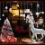 CMTOP Weihnachten Fenstersticker Weihnachtsdeko Fenster Weihnachtsbaum Süße Elche Fensteraufkleber PVC Fensterdeko Selbstklebend für Türen Schaufenster Vitrinen Glasfronten - 3