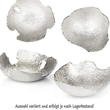 com-four® Deko-Schale aus Metall - Dekorative Design-Schüssel für Zuhause - Moderne Schale für Tischdeko, Obstschale, Servierplatte [Auswahl variiert] (rund) - 2