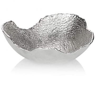 com-four® Deko-Schale aus Metall - Dekorative Design-Schüssel für Zuhause - Moderne Schale für Tischdeko, Obstschale, Servierplatte [Auswahl variiert] (rund) - 1