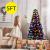 COSTWAY 150/180/210cm LED Künstlicher Weihnachtsbaum mit 8 Lichtmodi, Tannenbaum mit Metallständer, Christbaum mit Glasfaser-Farbwechsler und mehrfarbige Leuchten, Kunstbaum Weihnachten, grün (150cm) - 2